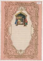 """03360 """"LETTERA DI NATALE - LETTRE DE NOEL - CHRISTMAS LETTER"""" DECORATA IN ORO E RILIEVO, ANNI '30 XX SECOLO ORIGINALE - Decorative Items"""