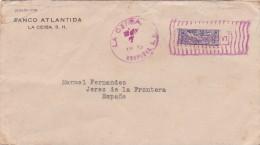 Carta De La Ceiba A Jerez, Con Sello De 15 Ctmos. Bisectado, Circulado En Marzo De 1924 - Honduras