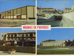 Miramas.. Belle Multi-vues Les Nouveaux Quartiers Train Locomotive Voiture - Francia