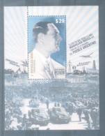 BLOQUE GENERAL JUAN DOMINGO PERON TRES VECES PRESIDENTE DE LA REPUBLICA ARGENTINA AÑO 2015 MNH TBE - Blocks & Sheetlets