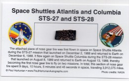 - STS 27 & 28 - SPACE SHUTTLE ATLANTIS & COLUMBIA / SEGMENT OF NOSE GEAR TIRE - FLOWN - Météorites