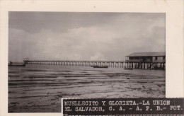 POSTAL DE LA UNION DEL MUELLECITO Y GLORIETA DEL AÑO 1928 (FOTO AMANO P.B.) (EL SALVADOR) - El Salvador
