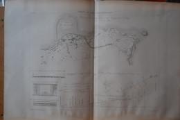 Chemins De Fer Anglais . 1 Gravure Sur Cuivre (1845) . Ligne De Kingstown à Dalkey. - Estampes & Gravures
