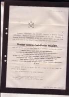 LIEGE HERSTAL Christian FREDERIX Général-major Ancien Directeur Fonderie Royale Des Canons 73 Ans En 1866 Faire-part - Avvisi Di Necrologio