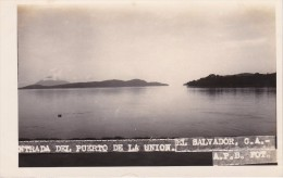 POSTAL DE LA UNION DE LA ENTRADA DEL PUERTO DEL AÑO 1928 (FOTO AMANO P.B.) (EL SALVADOR) - El Salvador