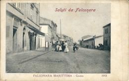 SALUTI DA FALCONARA MARITTTIMA (AN) - CENTRO - F/P - N/V - ANIMATA - I - Ancona