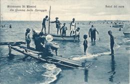 MIRAMARE DI RIMINI - LA GEMMA DELLE SPIAGGIE - F/P - V: 1926 - ANIMATA - Rimini