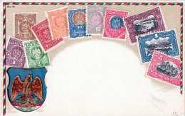 Prägekarte MEXICO - Mexikanische Briefmarken Um 1900 - Mexiko