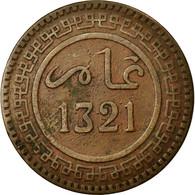 Monnaie, Maroc, 'Abd Al-Aziz, 10 Mazunas, 1903, Berlin, TTB, Bronze, KM:17.1 - Marruecos