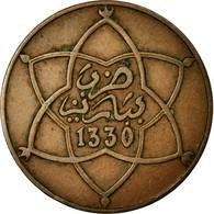 Monnaie, Maroc, Yusuf, 5 Mazunas, 1912, Bi-Bariz, Paris, TTB, Bronze, KM:28.1 - Marruecos