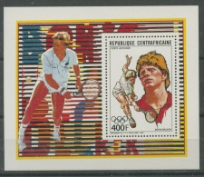 Zentralafrikanische Republik 1988 Boris Becker Block 434 A Postfrisch (C22278) - Repubblica Centroafricana