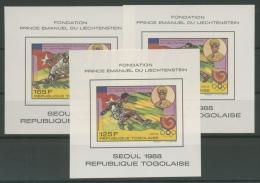Togo 1989 Internationales Olympisches Komitee Block 325/27 Postfrisch (C22257) - Togo (1960-...)
