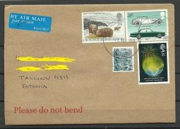 Great Britain 2015 Air Mail Cover To Estonia Car Jaguar Etc - 1952-.... (Elizabeth II)