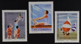 Argentinien Argentina 1987 MiNr. 1893-95 Panamerikanische Spiele Rudern - Ungebraucht