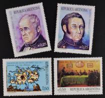Argentinien Argentina 1987 MiNr. 1896-99 Historische Ereignisse - Ungebraucht