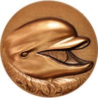 France, Dolphin, Fauna, Medal, SPL, Bret, Bronze, 72 - France