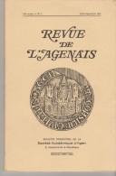 """REVUE TRIMESTRIELLE """"REVUE DE L´AGENAIS"""" N° 3/1978 PAR LA SOCIETE ACADEMIQUE D´AGEN - Histoire, Archéologie,...... - History"""