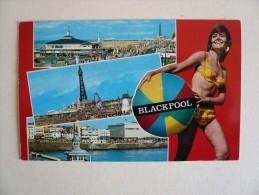 Inghilterra - England - Blackpool - Pin Up - Viaggiata 1972 - Blackpool