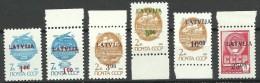 LETTLAND Latvia 1991/92 =  6 Werte Aus Michel 313 - 316 & 335 - 339 MNH - Lettonie