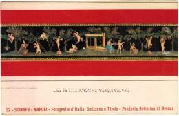 Les Petits Amovrs Vendangevrs. Sommer, Napoli, Fonderia Artistiea Di Bronzo - Fairy Tales, Popular Stories & Legends