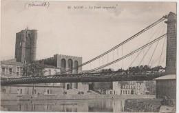 AGDE - Le Pont Suspendu -passage D'un Charroi De Tonneaux - Agde