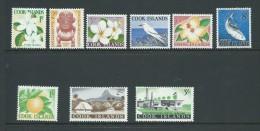 Cook Islands 1963 Definitive Part Short Set Of 9 To 3 Shillings Mint  MLH - Cook Islands