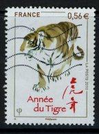 FRANCE 2010 / YT 4433  ANNEE DU TIGRE OBL. - Astrology