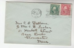 1918 Baltimore USA Stamps COVER - United States