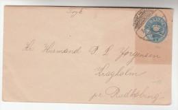 1890s Rudkjoping DENMARK Postal  STATIONERY COVER    Stamps - Postal Stationery
