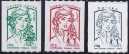 3 Roulettes Mariannes Adhésives Ciappa N° 862/864 - France