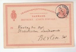 1914 Copenhagen DENMARK POSTAL STATIONERY CARD To GERMANY  Cover Stamps - Postal Stationery