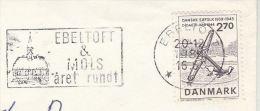 1984  DENMARK Stamps COVER  Illus SLOGAN Pmk EBELTOFT  & MOLS ARET RUNDT - Cartas