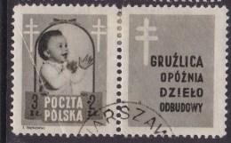 POLAND 1948 Anti-TB Fi 485 Pw5 Used - Used Stamps
