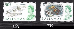 Bahamas Scott   239, 263 Mint LH  VF  CV $ 2.95 - Bahamas (...-1973)