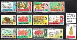 Bahamas Scott   313-327 Short Set 13 Values  Mint NH  VF  CV $19.75 - Bahamas (...-1973)