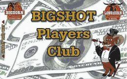 Bighorn & Longhorn Casinos Las Vegas Bigshot Players Club Card - No Smartchip (Blank) - Cartes De Casino