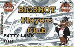 Bighorn & Longhorn Casinos Las Vegas Bigshot Players Club Card - No Smart Chip (Printed) - Casino Cards