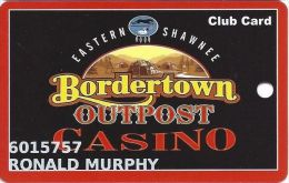 Bordertown Outpost Casino Wyandotte, OK Slot Card - No Text Above Mag Stripe - Casino Cards