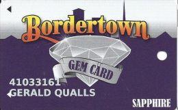 Bordertown Casino Wyandotte, OK Slot Card - Wide Reverse Text - Casino Cards