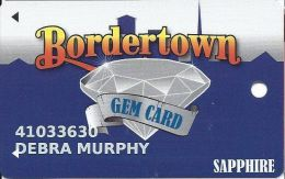Bordertown Casino Wyandotte, OK Slot Card - With Insert Arrows - Casino Cards