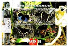 Madagascar 1999 Japex 99 / Papilllons - Butterflies