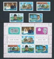 Cook Islands 1971 Royal Visit Set Of 5 & Miniature Sheet MNH - Cook Islands
