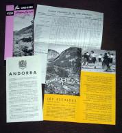 Andorre Andorra Plusieurs Dépliants Touristiques - Tourism Brochures