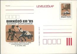 3352 Hungary Postcard Sport Wrestling European Championship Unused - Ringen