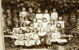France Vendee Foussais Groupe D'Enfants Ancienne Photo Cabinet Cosset Chabot 1908 - Identified Persons