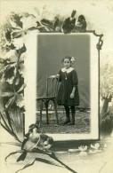 France Portrait Jeune Fille Denise Deguin Buret Ancienne Photo Cabinet 1910 - Identified Persons