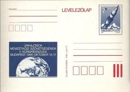 3357 Hungary Postcard Space, Rocket Globe Unused - Storia Postale