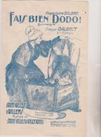 (GB2) Fais Bien Dodo  , DALBRET , Musique Et Paroles : SAINT GILLES - Partitions Musicales Anciennes