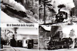 Eisenbahn Lokomotive - S/w Mit Der Bimmelbahn Durchs Erzgebirge - Eisenbahnen