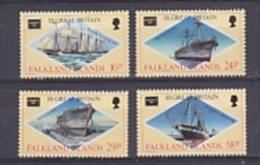 Falkland Islands 1986 Ameripex / Ss Great Britain 4v ** Mnh (FI1006NB) - Falkland Islands